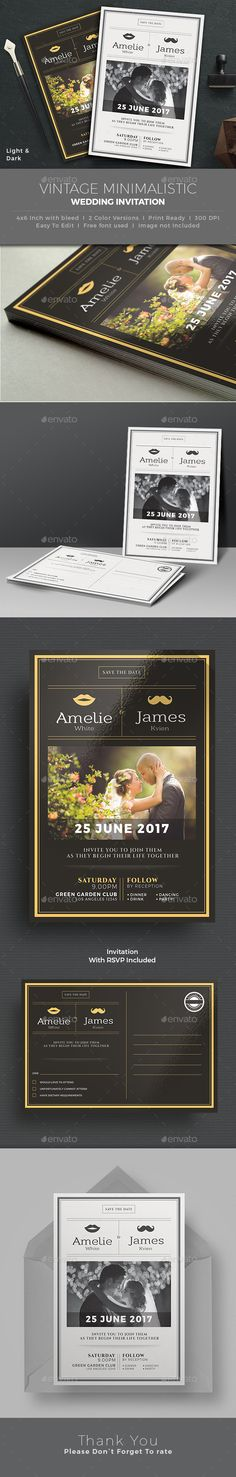 Wedding Invitation Wedding invitation card template, Wedding - download invitation card