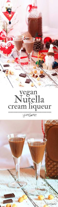 Home-made vegan Nutella cream liqueur recipe. Oh. My. Glob. | yumsome.com