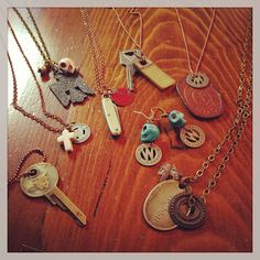 Turning vintage rags into riches! More vintage junkyard jewelry.