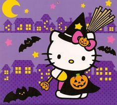 Hello Kitty Halloween Background