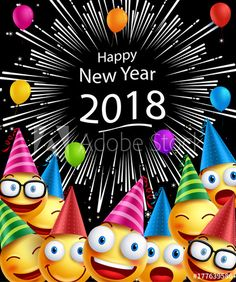 Happy New Year 2018 - Buy this stock illustration and explore similar illustrations at Adobe Stock