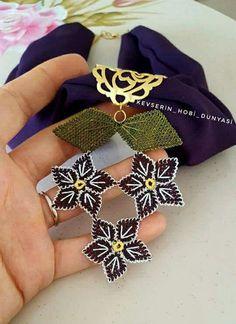 ღღ~❥✿ Mara Maldonado ✿ڿڰۣ(̆̃̃❤ Scarf Jewelry, Needle Lace, Beaded Flowers, Eminem, Craft Projects, Crafty, Crochet, Ideas, Lace