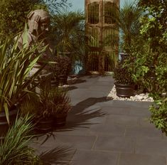 Bradstone Aged Riven Paving available in patio packs of mixed sizes! Concrete Paving, Dark Grey, Sidewalk, Age, Patio, Traditional, Walkway, Yard, Terrace