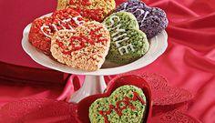 Rice crispy treat conversation hearts!