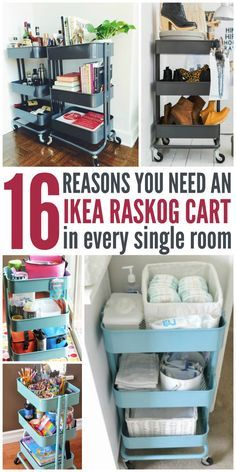 Now that I know I can use it for all my organizational needs, I;ll be getting an IKEA Raskog cart ASAP -One Crazy House