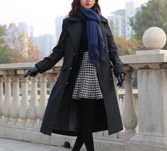 women Sherlock Holmes WOMEN Cape Coat Costume Wool Version with Muffler Scarf as Gift US $210.00