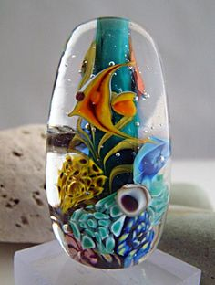 Coral reef by Jan Cahill  - I love these beads! Such a good feel and such a talented lampworker!