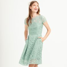 Alisa dress in Leavers lace : lace | J.Crew