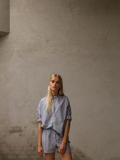 Striped pyjama mini short with shirt. Pluto - On the Moon