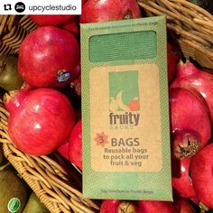 RG @upcyclestudio   A great way to cut down on your plastic use...just carry these with you to the supermarket and replace your fruit and veg bags with these reusable Fruity Bags  breathable washable and the best part...the planet will thankyou for it  #fruitybags #upcyclestudio #reuse #eco #ecobag #ecofriendly #reusenotrefuse #ecodesign #reusable #producebags #fruit
