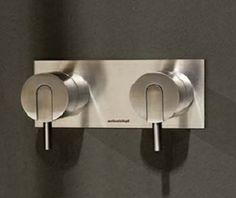 #antoniolupi #Ayati #shower set 2 #mixer AY650PSA | #Stainless #steel #Frosted | on #bathroom39.com at 750 Euro/pc | #furniture #sanitary #accessories #taps #bath #design