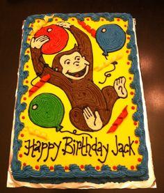 curious george birthday cakes | Curious George Birthday Cake Ideas and Designs