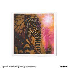elephant cocktail napkins