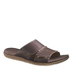 "Hush Puppies ""Frame"" Slide Sandals in Brown."