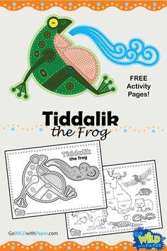Frog Activities, English Activities, Animal Activities, Creative Activities, Preschool Activities, Aboriginal Education, Indigenous Education, Aboriginal History, Aboriginal Culture