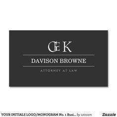 YOUR INITIALS LOGO/MONOGRAM No. 1 Business Card
