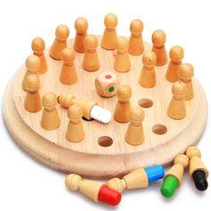 Montessori Speelgoed Baby Houten Geheugen Ontwikkelen Concurreren Schaken Leren…