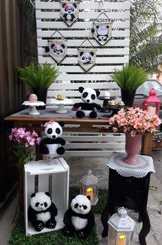 Panda Themed Party, Panda Birthday Party, Panda Party, 7th Birthday, Care Bear Costumes, Panda Baby Showers, Festa Party, Baby Party, F21