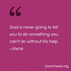 Don't let your emotions get in the way of trusting God to take care of you. Joyce Meyer explains how to stay stable. Pastor Quotes, Jesus Quotes, Bible Quotes, 21 Days Of Prayer, Joyce Meyer Quotes, Hold Your Peace, Joyce Meyer Ministries, Was Ist Pinterest, Prayer And Fasting