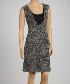 Take a look at this Black & Gray Sleeveless Tunic by Papillon Imports on #zulily today! $28 !!