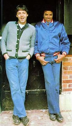 MJ hanging with his good friend Paul McCartney. Paul was the only one with a bigger cartoon collection than michael ;) By Linda McCartney