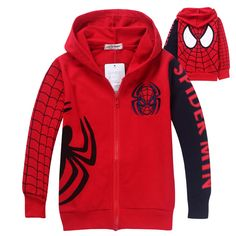 1pc Retail 2014 Spring Autumn Children's Coat  boys Spiderman embroidered hoodie jackets Kids cartoon Clothes baby outerwear US $11.98 - 13.88