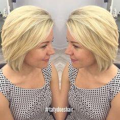 medium blonde bob needs more bangs Blonde Bob Haircut, Blonde Bob Hairstyles, Medium Bob Hairstyles, Lob Haircut, Cool Hairstyles, Hairdos, Medium Blonde Bob, Blonde Bobs, Short Hair Cuts
