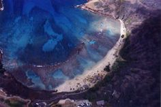 Hanauma Bay - Aerial View  I took this during a helicopter tour of the island.