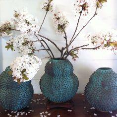 #wildcherry #gourd #vase #durian #etsy #mariellemacvilleceramics #mariellemacville #flowers