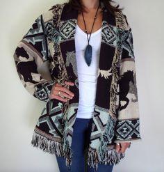 Native American Horse Blanket Wrap Sweater