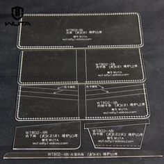 Men wallet Acrylic Leather template DIY Pattern for Leathercraft worker