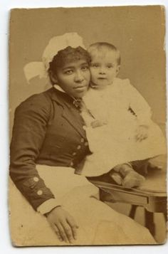 c1860s-BLACK-Nanny-Beautiful-AFRICAN-American-NANNY-amp-WHITE-Child-GREAT-POSE