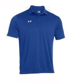 Under Armour Men's Team's Armour Polo Golf Shirt, 1246240 (Royal, M)