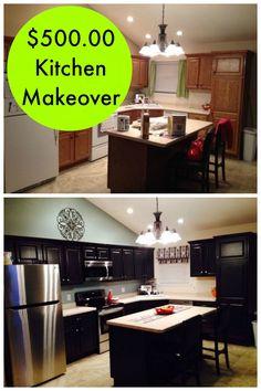 $500.00 Builder Grade Kitchen Makeover