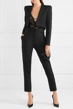 SAINT LAURENT classy Stretch-lace bodysuit