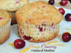 Orange Cranberry Oatmeal Muffins