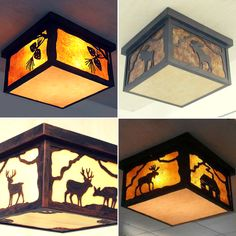 Rustic Ceiling Lighting for Lodge and Cabin.