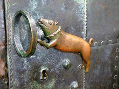 Pig and Hoop door handle