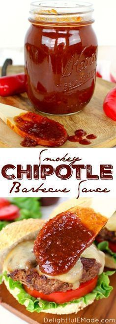 Homemade recipe for smokey, spicy & sweet barbecue sauce! This easy sauce is great for burgers, chicken, pork chops and ribs, this simple BBQ sauce will be your new go-to recipe for grilling season! #Delightfulemade #BBQ #Sauce #Molasses #Smokey #sweetandspicy
