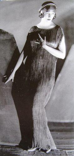 MARIANO FORTUNY, The Delphos dress worn by Rudolph Valentino's wife, Natasha Rambova