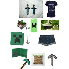 By winchi on Polyvore. Minecraft outfit / set http://ziggacakedup.com/