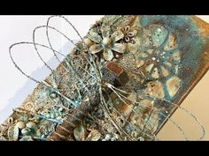 (5) Dragonfly, mixed media canvas - process video - YouTube
