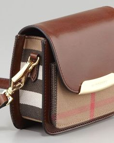 Burberry Check Small Crossbody Bag, Dark Tan - Neiman Marcus Check out the latest London Fashion - from Burberry, London's icon fashion house. Zapatillas Louis Vuitton, Neiman Marcus, Burberry Handbags, Burberry Bags, Burberry Crossbody Bag, Designer Crossbody Bags, Gucci Bags, Designer Bags, Bowling Bags