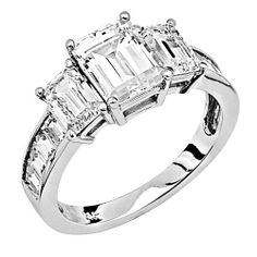 .925 Rhodium Plated Sterling Silver Three Stone (0.5 CT x 1.5 CT x 0.5 CT) with Side Stone CZ Cubic Zirconia Ladies Wedding Wedding Engagement Ring Band The World Jewelry Center. $46.00. Special manufacturing process held to ensure less wear and tarnish. Promptly Packaged with Free Gift Box and Gift Bag. Made From Beautiful .925 Sterling Silver. Fashionable and elegant styling