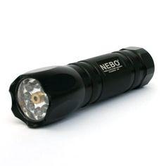 NEBO CSI 8 LED Black Tactical Laser Self Defense Flashlight Model #5077 Includes 3 Batteries!