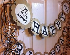 75th Birthday Decorations Personalization Available By FromBeths Parties 85th