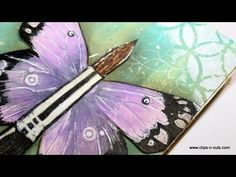Art journal : Dream Inspire Create - YouTube/////// Excellent video, she demonstrates a great painted background that's easy and very pretty using bottled acrylic paint ( wide range of colors to choose from, cheaper to use), she uses stencils expertly also, she puts white acrylic paint on a background rubber stamp and creates a pretty effect with it, beautiful journal page, very helpful! EXCELLENT!