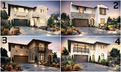 Which of these home exteriors do you LIKE the most at our Sterling community opening October 29th?! #newhome #sandiego #realestate