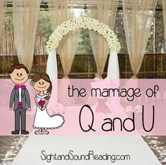 The marriage of Q and U Everything you need to know to have a Q and u wedding -Great way to teach the letter Q in Kindergarten or preschool. Early Literacy, Preschool Kindergarten, Preschool Ideas, Teaching Ideas, Preschool Teachers, Kindergarten Worksheets, Preschool Crafts, Kids Crafts, Phonics Activities