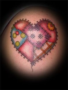 these flowers are so fun and cute! | Tattoos<3 | Pinterest ... : quilt heart tattoo - Adamdwight.com